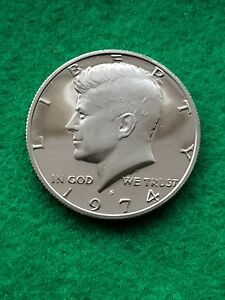 1974 S   KENNEDY HALF DOLLAR  CAMEO   UNCIRCULATED  PROOF   FREE SHIP