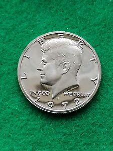 1972 S   KENNEDY HALF DOLLAR CAMEO   UNCIRCULATED PROOF