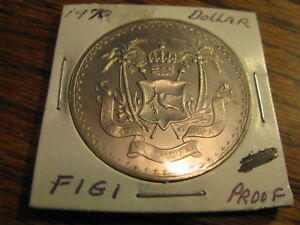 1970 FIJI PROOF DOLLAR    LOT  B F