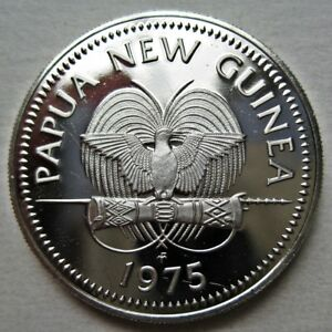 PROOF PAPUA NEW GUINEA 1975 TWENTY 20 TOEA COIN  KM5