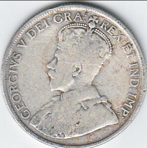1918 CANADIAN SILVER 50 CENTS