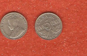 1926 NEAR 6  CANADA FIVE CENT COIN  A GREAT COLLECTABLE FIVE CENT COIN  M24