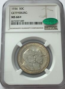 Click now to see the BUY IT NOW Price! 1936 NGC MS66  CAC GETTYSBURG COMMEMORATIVE SILVER HALF DOLLAR MS 66  CAC 089