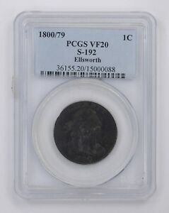 1800/79 DRAPED BUST LARGE CENT   PCGS GRADED  4490
