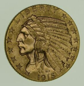 1915 $5.00 INDIAN HEAD GOLD HALF EAGLE   CHOICE  1853
