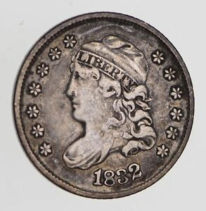 1832 CAPPED BUST HALF DIME   CIRCULATED  7694