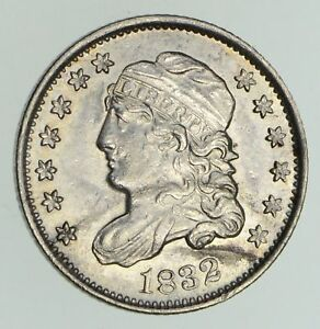 1832 CAPPED BUST HALF DIME   NOT CIRCULATED  4765
