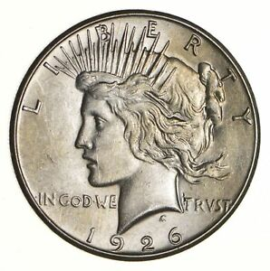 1926 S PEACE SILVER DOLLAR   NEAR UNCIRCULATED  7249