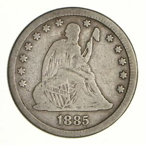 1885 SEATED LIBERTY SILVER QUARTER   CIRCULATED  6981