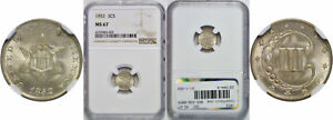 Click now to see the BUY IT NOW Price! 1852 SILVER THREE CENT PIECE NGC MS 67