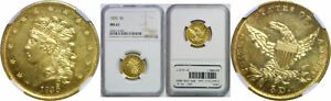 1835 $5 GOLD COIN NGC MS 61