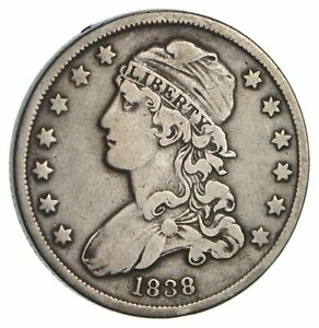 1838 CAPPED BUST QUARTER  CIRCULATED  3463