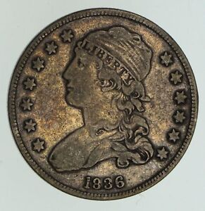 1836 CAPPED BUST QUARTER   CIRCULATED  4713