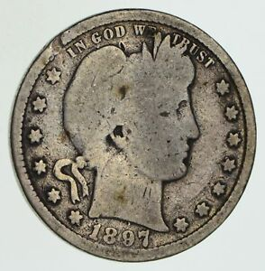 1897 S BARBER QUARTER   CIRCULATED  6043