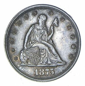 1875 SEATED LIBERTY TWENTY CENT PIECE   NEAR UNCIRCULATED  8248