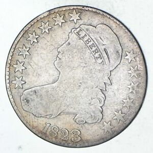 1823 CAPPED BUST HALF DOLLAR   CIRCULATED  9309