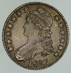 1827 CAPPED BUST HALF DOLLAR   CIRCULATED  4650