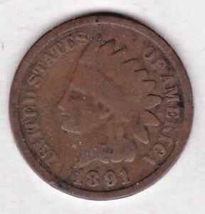 1891 INDIAN HEAD CENT IN GOOD CONDITION : STKG6