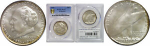1936 BRIDGEPORT SILVER COMMEMORATIVE PCGS MS 67
