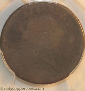 1793 S4 R3 CHAIN LARGE CENT PERIODS PCGS PR1 CAC STEVE KATZ CHOICE SMOOTH BROWN