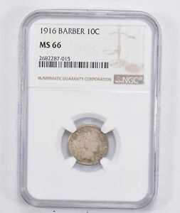 MS66 1916 BARBER DIME   NGC GRADED  2010