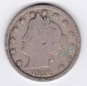 1912 LIBERTY NICKEL IN GOOD  CONDITION   STK V6