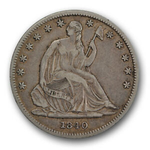 1840 O 50C LIBERTY SEATED HALF DOLLAR EXTRA FINE XF NEW ORLEANS COIN R1459