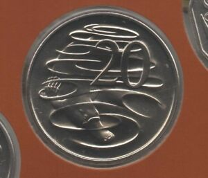 1986 AUSTRALIA: 20   10   5 CENT COINS FROM MINT SET COIN MARKET $1 POST