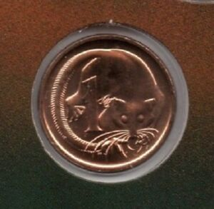 1989 AUSTRALIA: 1 & 2 CENT COINS FROM MINT SET COIN MARKET $1 POSTAGE