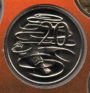 1989 AUSTRALIA: 20 CENT COIN FROM MINT SET COIN MARKET $1 POSTAGE
