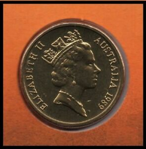 1989 AUSTRALIA: MOB OF ROOS $1 COIN FROM MINT SET COIN MARKET $1 POSTAGE