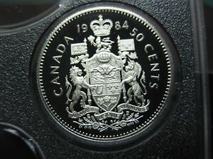 1984 CANADIAN PROOF 50 CENT  $0.50