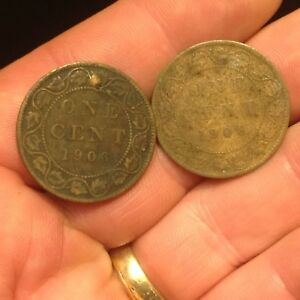 1906 CANADA LARGE CENT FILLS A HOLE 1 COIN