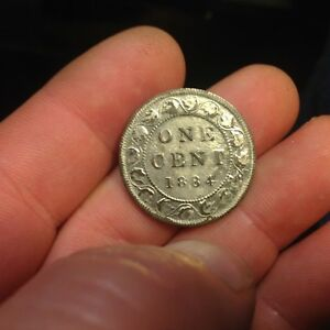 1884 CANADA LARGE CENT SILVER OR ZINC PLATED?