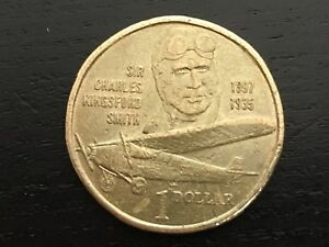 1997 AUSTRALIA $1 SIR CHARLES KINGSFORD SMITH   CIRCULATED ONE DOLLAR COIN