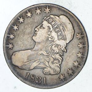 1831 CAPPED BUST HALF DOLLAR   CIRCULATED  9300