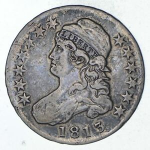 1813 CAPPED BUST HALF DOLLAR   CIRCULATED  9297