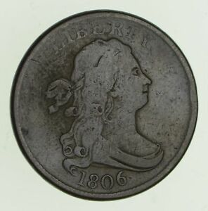 1806 DRAPED BUST HALF CENT   CIRCULATED  4730