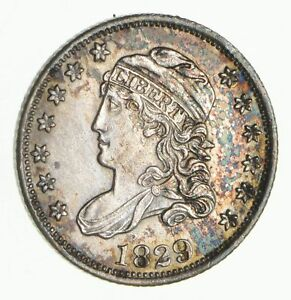 1829 CAPPED BUST HALF DIME  2645