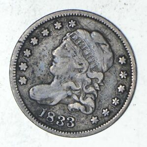 1833 CAPPED BUST HALF DIME   SHARP  9315