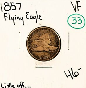 1857 FLYING EAGLE CENT VF 49443   PRICE REDUCTION