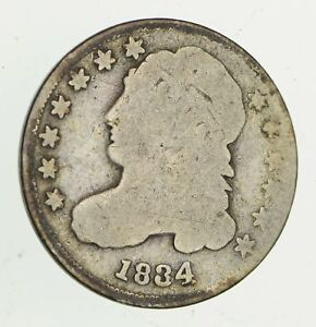 1834 CAPPED BUST DIME   CIRCULATED  9454