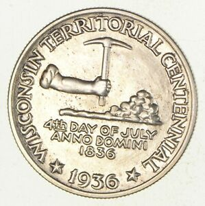 1936 WISCONSIN CENTENNIAL COMMEMORATIVE HALF DOLLAR  2930