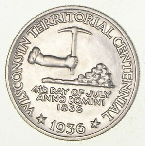 1936 WISCONSIN CENTENNIAL COMMEMORATIVE HALF DOLLAR  2931