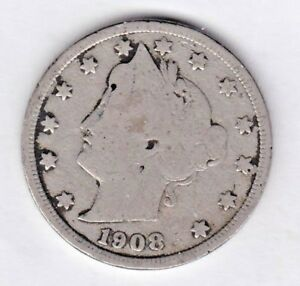 1908 LIBERTY NICKEL IN GOOD  CONDITION   STK V 667