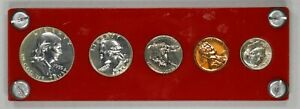 Click now to see the BUY IT NOW Price! 1955 US PROOF SET   FRANKLIN 50C / WASHINGTON 25C / ROOSEVELT 10C