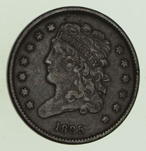 1835 CLASSIC HEAD HALF CENT   CIRCULATED  8694