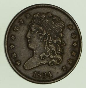 1834 CLASSIC HEAD HALF CENT   CIRCULATED  8679