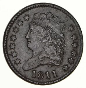 1811 CLASSIC HEAD HALF CENT   CIRCULATED  2900