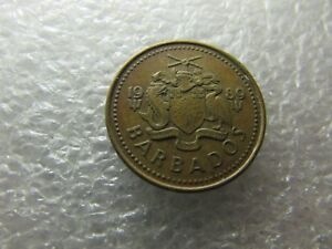 BARBADOS 1989 COIN   5 CENTS   SOUTH POINT LIGHTHOUSE   NICE HERITAGE ITEM